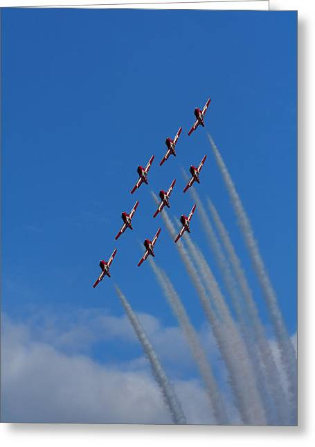 Snowbirds Performing Greeting Card by Matt Dobson