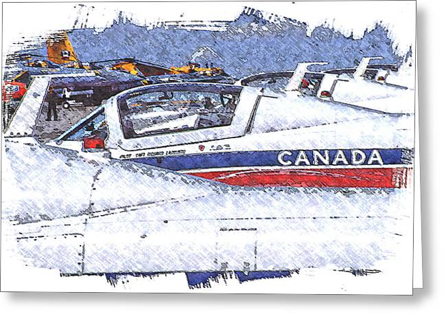 Greeting Card featuring the digital art Snowbirds by Richard Farrington