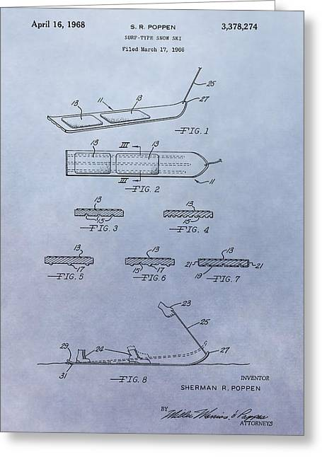 Snowboard Patent Greeting Card