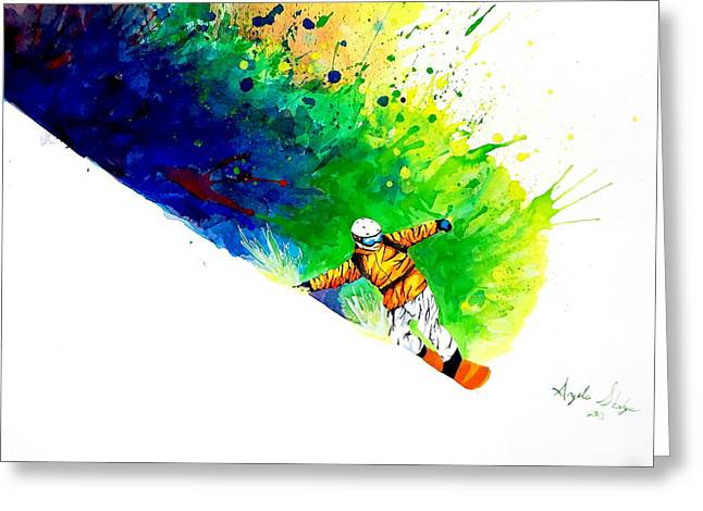 Snowboarder 1 Greeting Card