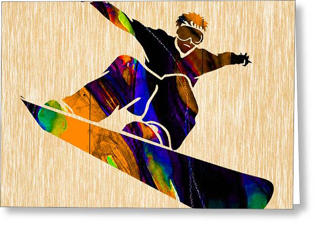 Snowboarder Greeting Card by Marvin Blaine