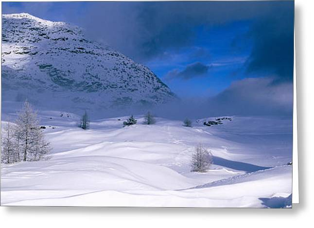 Snowcapped Mountain In A Polar Greeting Card by Panoramic Images