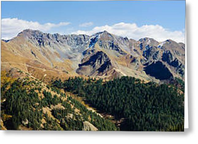 Snowcapped Mountain Peaks, San Juan Greeting Card by Panoramic Images