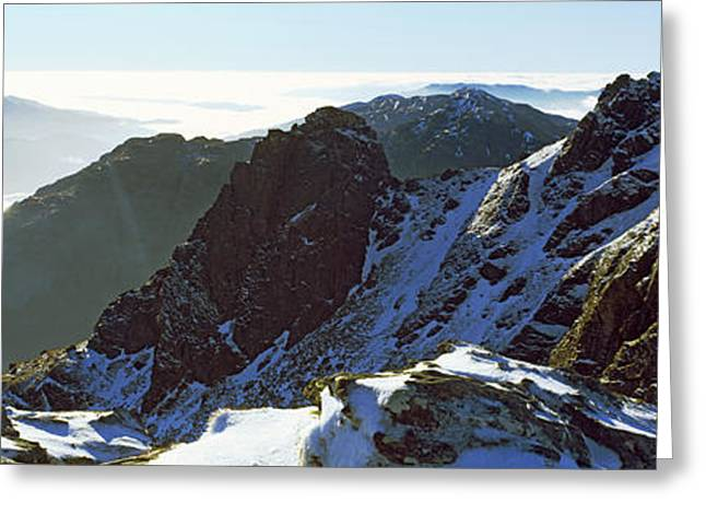 Snowcapped Mountain Range, The Cobbler Greeting Card