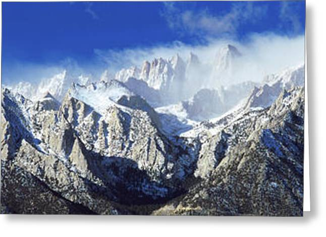 Snowcapped Mountains, Californian Greeting Card