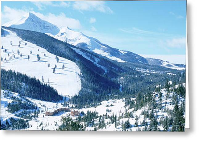 Snowcapped Mountains, Lone Mountain Greeting Card