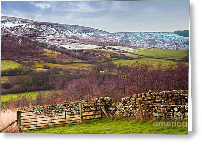 Snowcapped North Yorkshire Moors Greeting Card