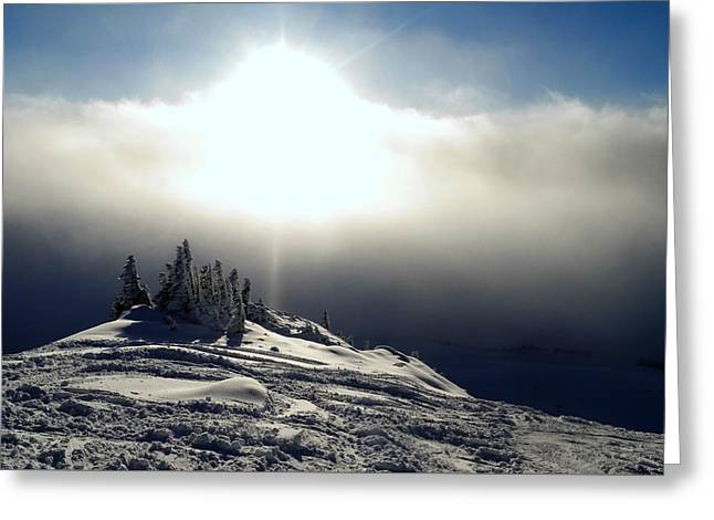 Snowcloud Sunburst Greeting Card