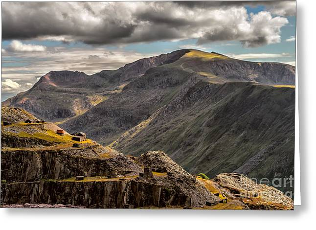 Snowdonia Greeting Card by Adrian Evans