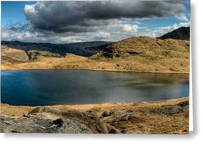 Snowdonia Panorama Greeting Card by Adrian Evans