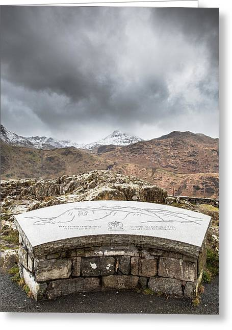 Snowdonia Viewpoint Greeting Card by Christine Smart