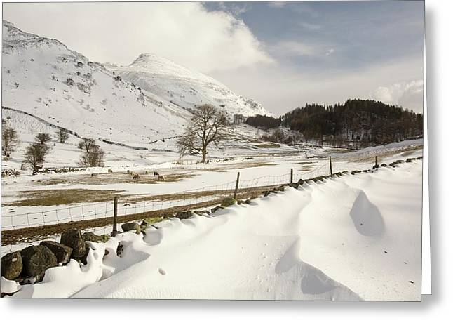 Snowdrifts Below Helvellyn Greeting Card