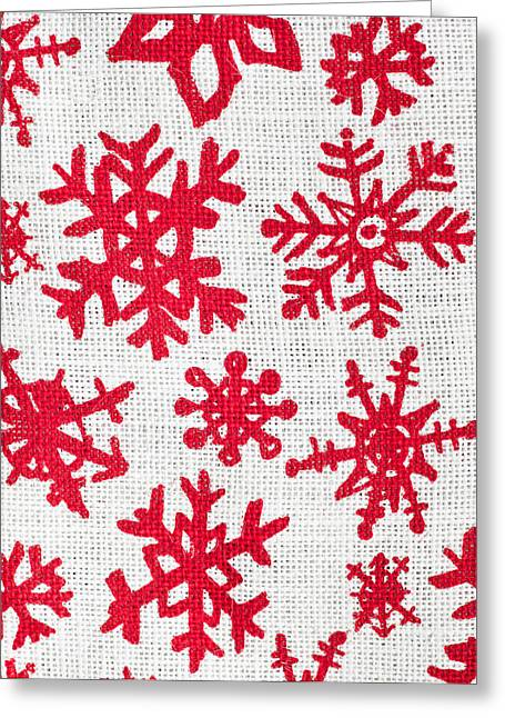 Snowflake Pattern Greeting Card by Tom Gowanlock