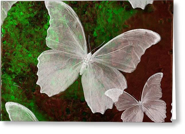 Snowflies Greeting Card