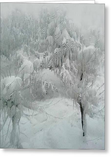Snowland Greeting Card by Kume Bryant