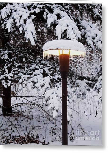 Snowlight Greeting Card by Avis  Noelle
