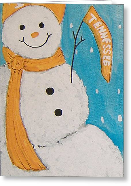 Snowman University Of Tennessee Greeting Card