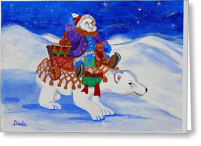Snowmans Caravan Greeting Card