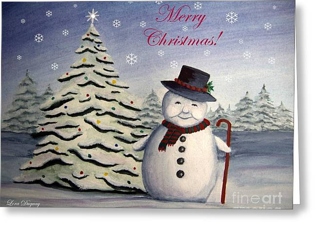 Snowman's Christmas Greeting Card