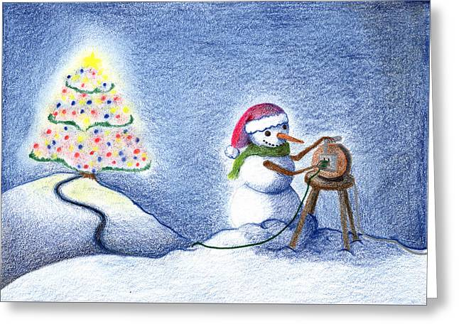 Snowman's X'mas Greeting Card by Keiko Katsuta