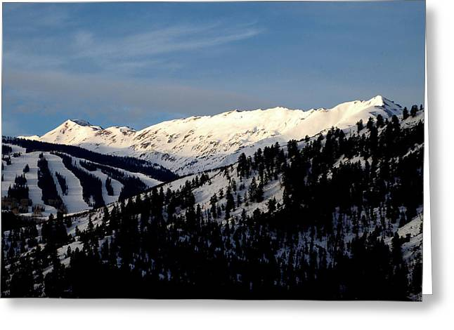 Greeting Card featuring the photograph Snowmass Mountain - Wild Cat Ranch by Allen Carroll