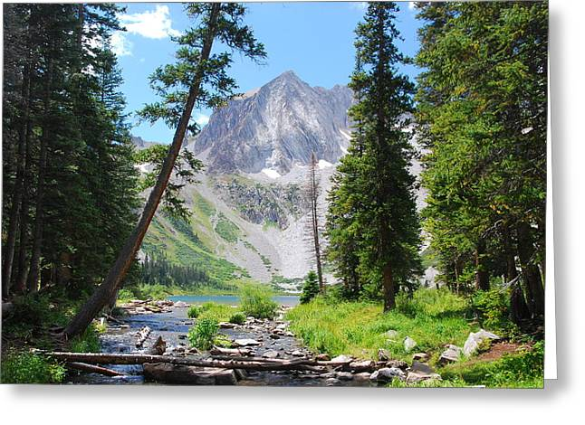 Greeting Card featuring the photograph Snowmass Peak Landscape by Cascade Colors
