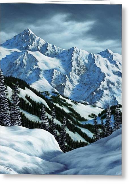 Snowpack Greeting Card by Rick Bainbridge