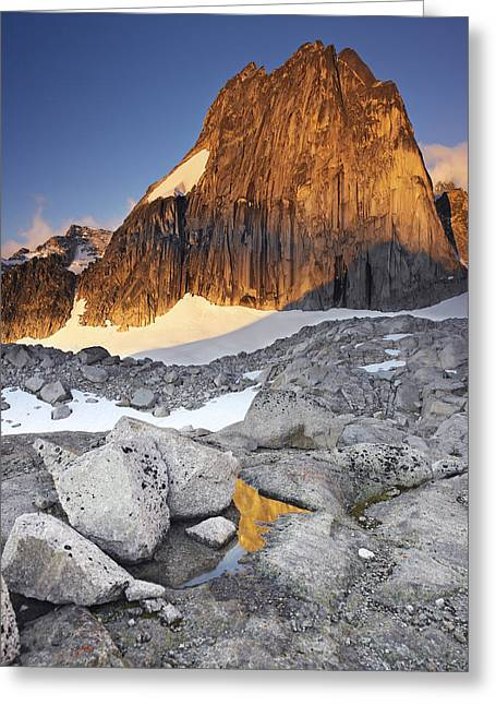 Snowpatch Spire At Sunrise Greeting Card