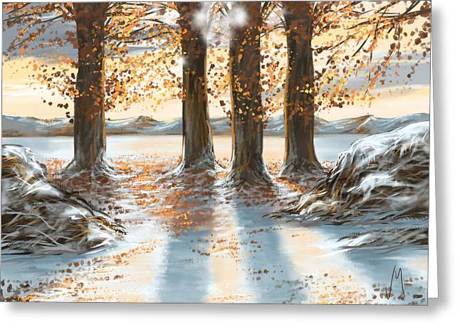Snowscape Greeting Card by Veronica Minozzi