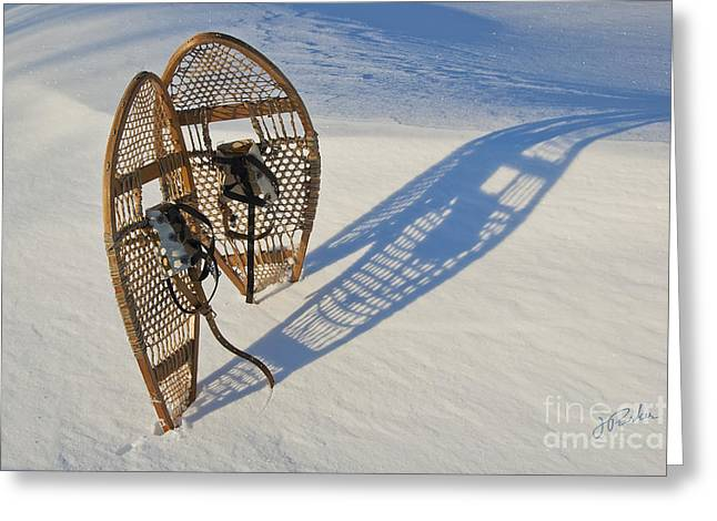 Snowshoes I Greeting Card by Jessie Parker