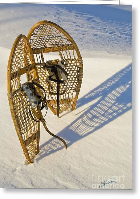 Snowshoes II Greeting Card by Jessie Parker