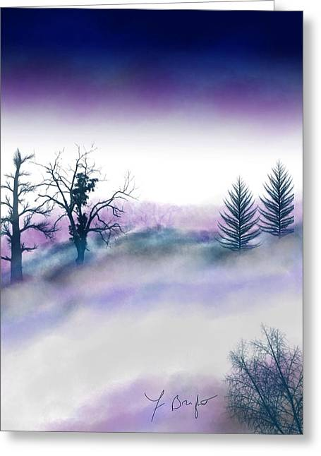 Snowstorm In Catskill Ipad Version Greeting Card by Frank Bright