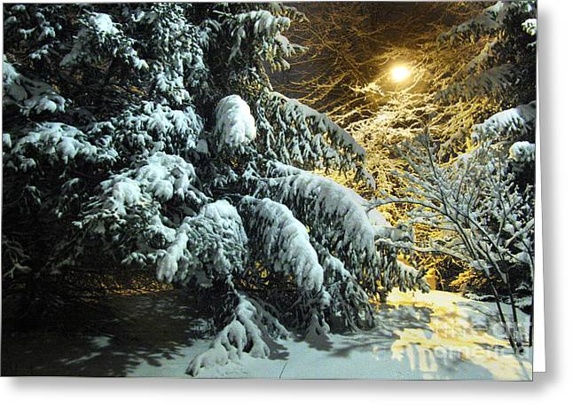 Snowy Abstract Greeting Card by Jonathan Welch