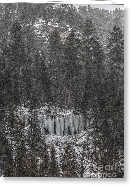The Snowy Cliffs Of Spearfish Canyon South Dakota Greeting Card