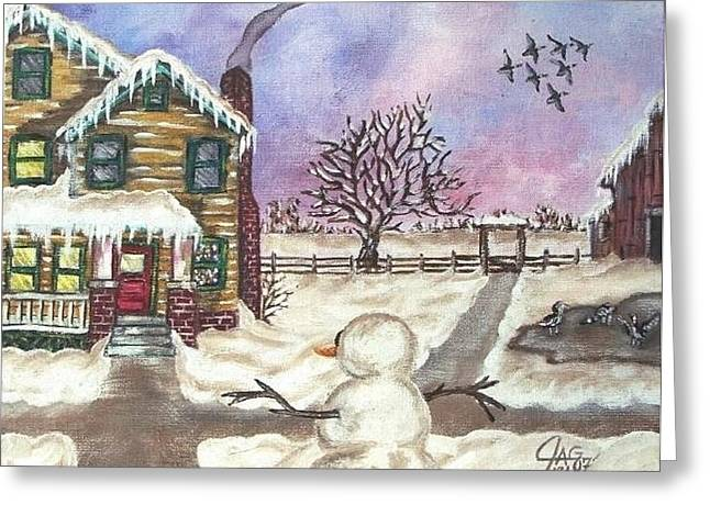 Snowy Day Greeting Card by The GYPSY And DEBBIE