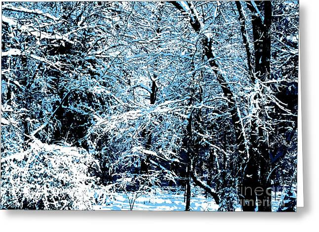 Snowy Day Landscape Greeting Card