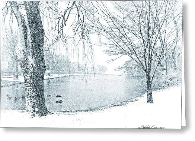 Snowy Day Greeting Card by Mikki Cucuzzo