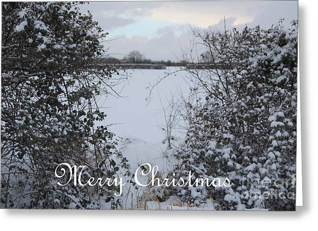 Snowy Heart For Christmas Greeting Card