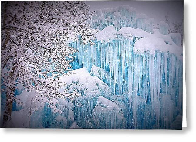 Snowy Ice Castle Greeting Card