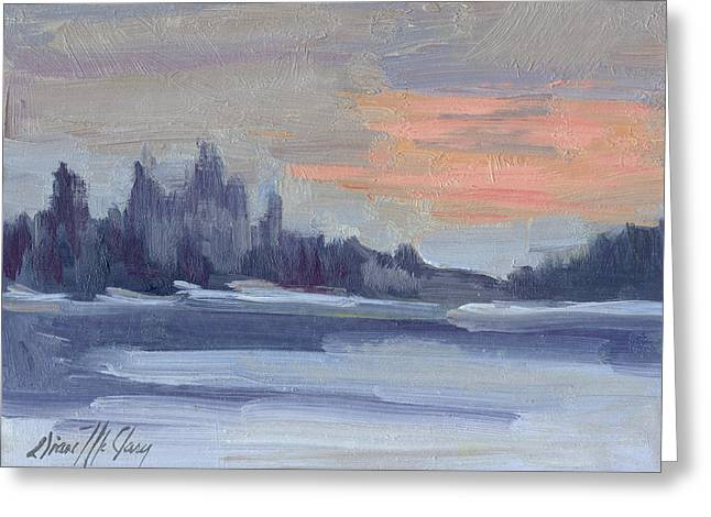 Snowy Morning At Martha Lake Greeting Card by Diane McClary