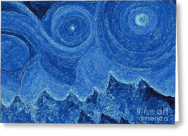 Snowy  Night By Jrr  Greeting Card by First Star Art