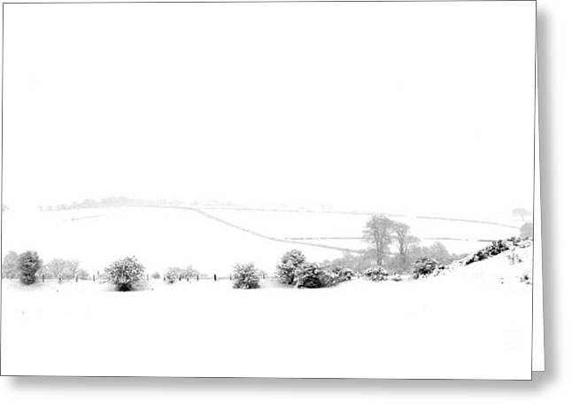Greeting Card featuring the photograph Snowy Panorama by Liz Leyden