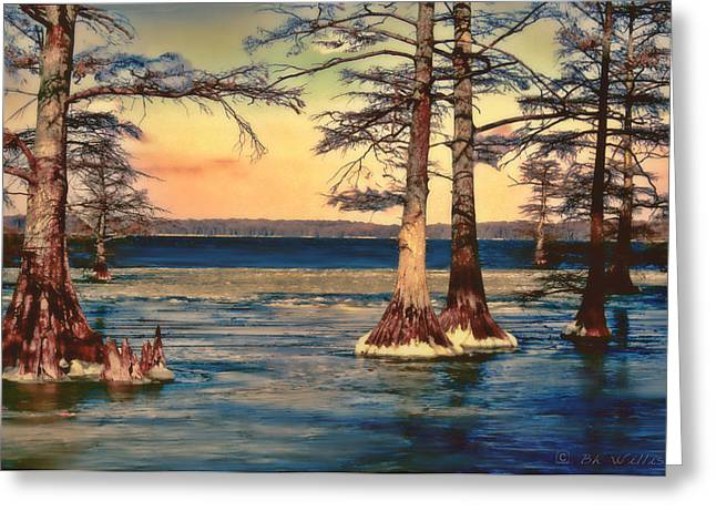 Snowy Reelfoot Greeting Card