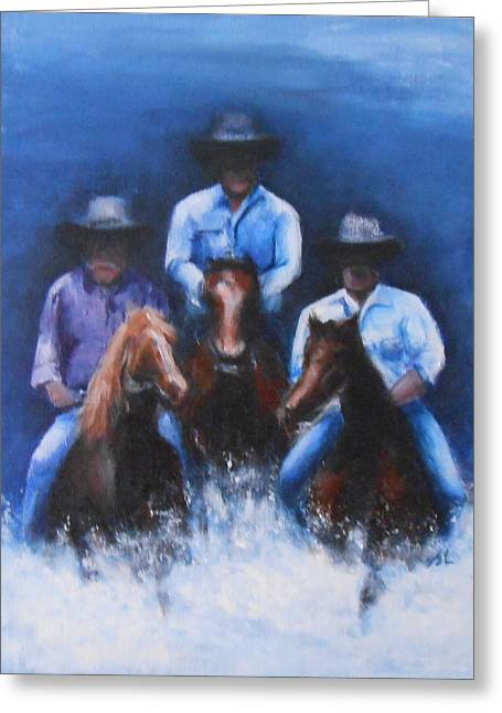 Snowy River Greeting Card by Jane  See