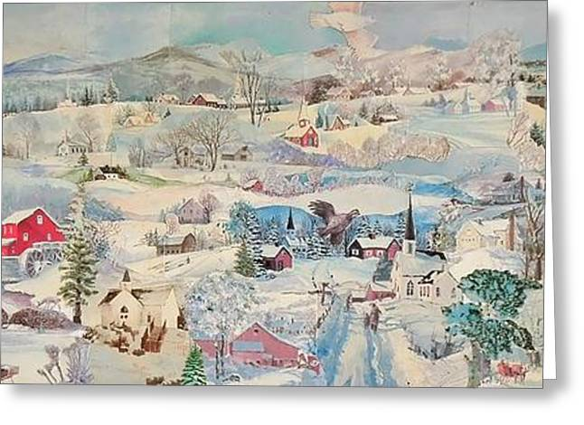 Snowy Village - Sold Greeting Card