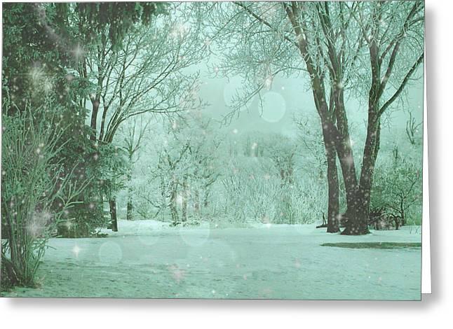 Snowy Winter Night Greeting Card