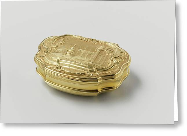 Snuff Box Of Gold, Adorned With Driven Representation Greeting Card by Quint Lox