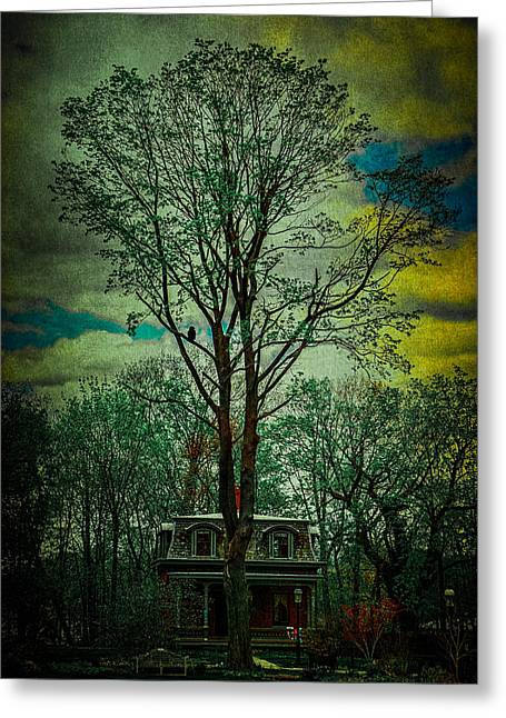 Snug Harbor Victorian Greeting Card by Chris Lord