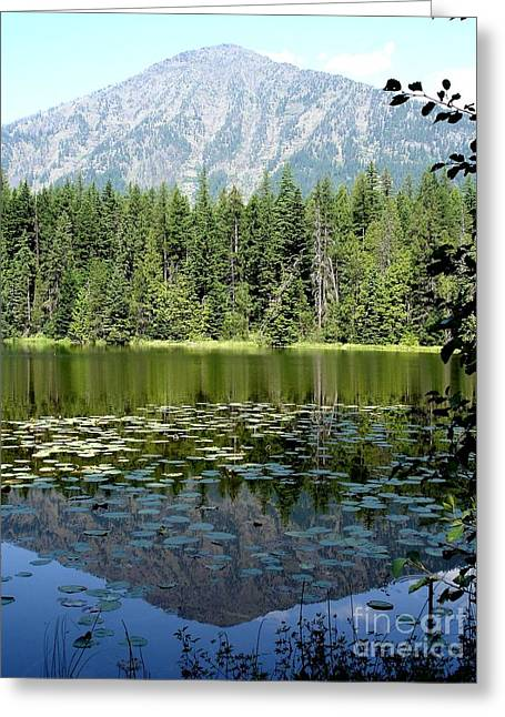 Snyder Lake Reflection Greeting Card