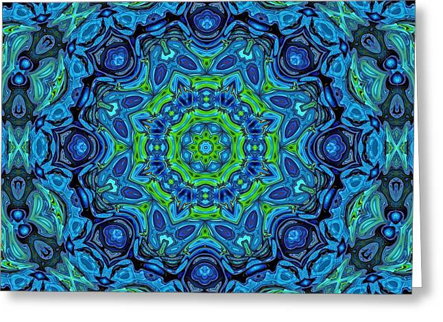 So Blue - 43 - Mandala Greeting Card